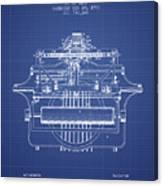 1903 Type Writing Machine Patent - Blueprint Canvas Print