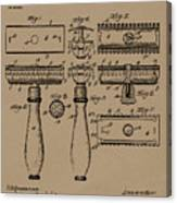 1904 Gillette Razor Patent Drawing Canvas Print