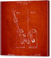 1904 Metronome Patent - Red Canvas Print