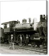 1905 Rail Engineers And Engine 1134 Canvas Print