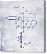 1906 Oyster Shucking Knife Patent Blueprint Canvas Print