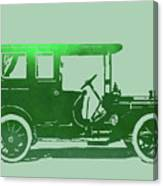 1909 Packard Limousine Green Pop Canvas Print