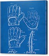 1910 Baseball Glove Patent Artwork Blueprint Canvas Print