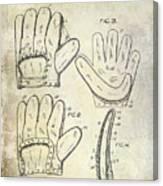 1910 Baseball Glove Patent  Canvas Print