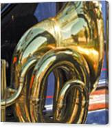 1910 Pope Hartford T Brass Horn Canvas Print