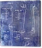 1911 Mechanical Skeleton Patent 1 Blue Canvas Print