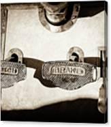 1911 Pope Hartford Model W Control Pedals -135s Canvas Print