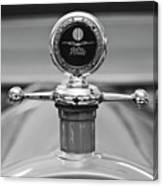 1913 White Gentlemans's Roadster Hood Ornament 2 Canvas Print