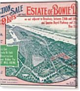 1915 Bronx Lots Sale Flyer Canvas Print