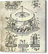 1916 Merry Go Round Patent Canvas Print