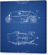 1917 Racing Vehicle Patent - Blueprint Canvas Print