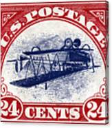 1918 Inverted Jenny Stamp Canvas Print