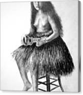 1919 Hawaiian Girl Canvas Print