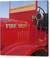 1919 Volunteer Fire Truck Canvas Print