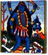 1920 Hindu Goddess Kali Canvas Print