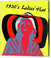 1920s Ladies Hat Canvas Print