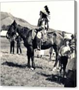 1920s Native And Crowd Canvas Print
