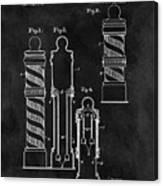 1921 Barber Pole Illustration Canvas Print