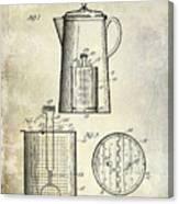 1921 Coffee Pot Patent Canvas Print