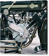 1921 P And M Motorcycle Canvas Print