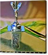 1921 Rolls-royce Silver Ghost Phaeton Hood Ornament Canvas Print