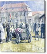 1922 Zbraslav Jiloviste Bugatti T13 Brescia Joan Halmovici Winner  Canvas Print