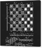 1923 Checkers And Chess Board Canvas Print