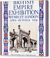 1924 British Empire Exhibition Wembley Canvas Print