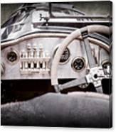 1925 Aston Martin 16 Valve Twin Cam Grand Prix Steering Wheel -0790ac Canvas Print