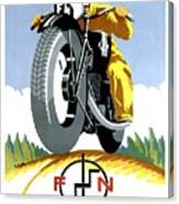 1925 Fn Motorcycles Advertising Poster Canvas Print