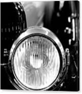 1925 Lincoln Town Car Headlight Canvas Print