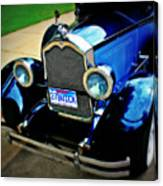 1927 Blue Buick Canvas Print