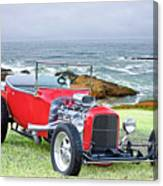 1927 Ford T Bucket Roadster 'on The Greens' Canvas Print
