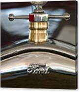 1927 Ford T Roadster Hood Ornament Canvas Print