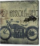 1927 Henderson Vintage Motorcycle Canvas Print