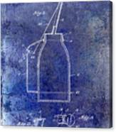 1927 Oil Can Patent Blue Canvas Print