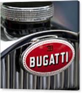 1928 Bugatti Hood Emblem Canvas Print