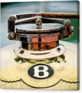 1929 Bentley 4.5-litre Open Tourer Hood Ornament Canvas Print