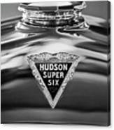 1929 Hudson Cabriolet Hood Ornament 2 Canvas Print