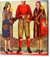 1929 Notre Dame Versus Southerncal Canvas Print