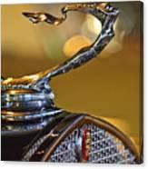 1930 Cadillac Roadster Hood Ornament Canvas Print