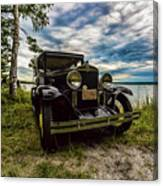 1930 Chevy On The Shore Of Higgins Lake Canvas Print