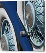 1930 Db Dodge Spare Tire Canvas Print