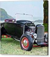 1930 Ford Model A Roadster 'oceanside' Canvas Print