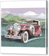 1930 Model J  Duesenberg Canvas Print