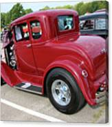 1930 Red Ford Model A-rear-8902 Canvas Print