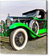 1930 Willys Knight 66b-plaidside Canvas Print