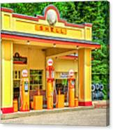 1930s Shell Gas Station Canvas Print