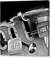 1931 Alfa Romeo 6c 1750 Gran Sport Aprile Spider Corsa Pedals -3689bw Canvas Print