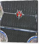 1931 Cadillac Phaeton Grille And Headlights Canvas Print